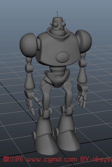 pantry kitchen bimby robot q版大眼机器人3d模型_次时代角色_动画角色_3d模型免费下载_摩尔网