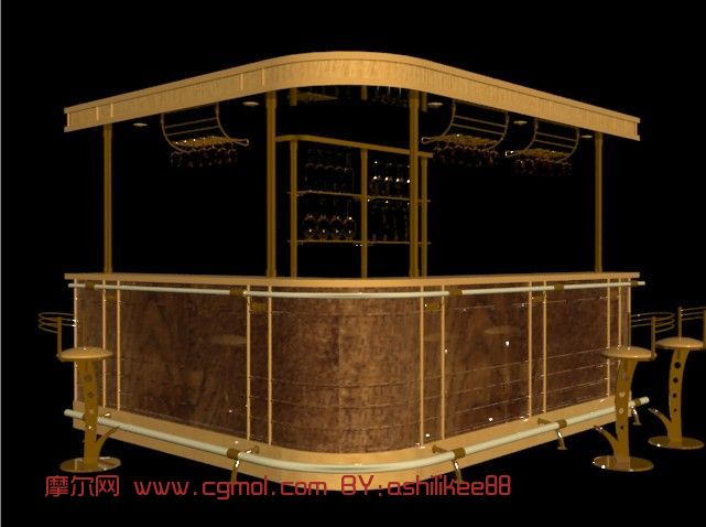 kitchen bars for sale sink basket strainer 吧台,酒吧,室内场景max3d模型_室内家具_室内模型_3d模型免费下载_摩尔网