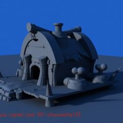 Childrens Play Kitchen Cabinets Wholesale 卡通房子,建筑,室外场景maya3d模型_其他_场景模型_3d模型免费下载_摩尔网
