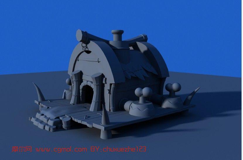 childrens play kitchen on a budget 卡通房子,建筑,室外场景maya3d模型_其他_场景模型_3d模型免费下载_摩尔网