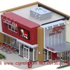 Kitchen Serving Cart Garden Windows 肯德基汽车穿梭餐厅3d模型(fbx格式),现代场景,场景模型,3d模型下载,3d模型网,maya模型免费下载,摩尔网