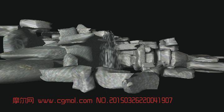 cabin kitchen decor sink racks 假山石带瀑布3d模型_自然场景_场景模型_3d模型,3d素材免费下载_摩尔网