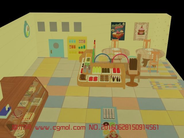 kitchen cabinet design software granite countertops cost 简单可爱配色卡通餐厅,其他,室内模型,3d模型下载,3d模型网,maya模型免费下载,摩尔网