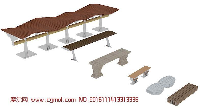 kitchen banquettes for sale kohler faucets parts 6款公园长椅 现代场景 场景模型 3d模型下载 3d模型网 maya模型免费下载