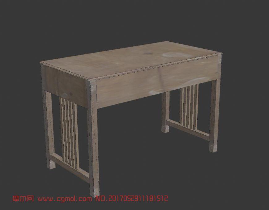 chairs for kitchen table sink styles 老式办公桌,室内家具,室内模型,3d模型下载,3d模型网,maya模型免费下载,摩尔网
