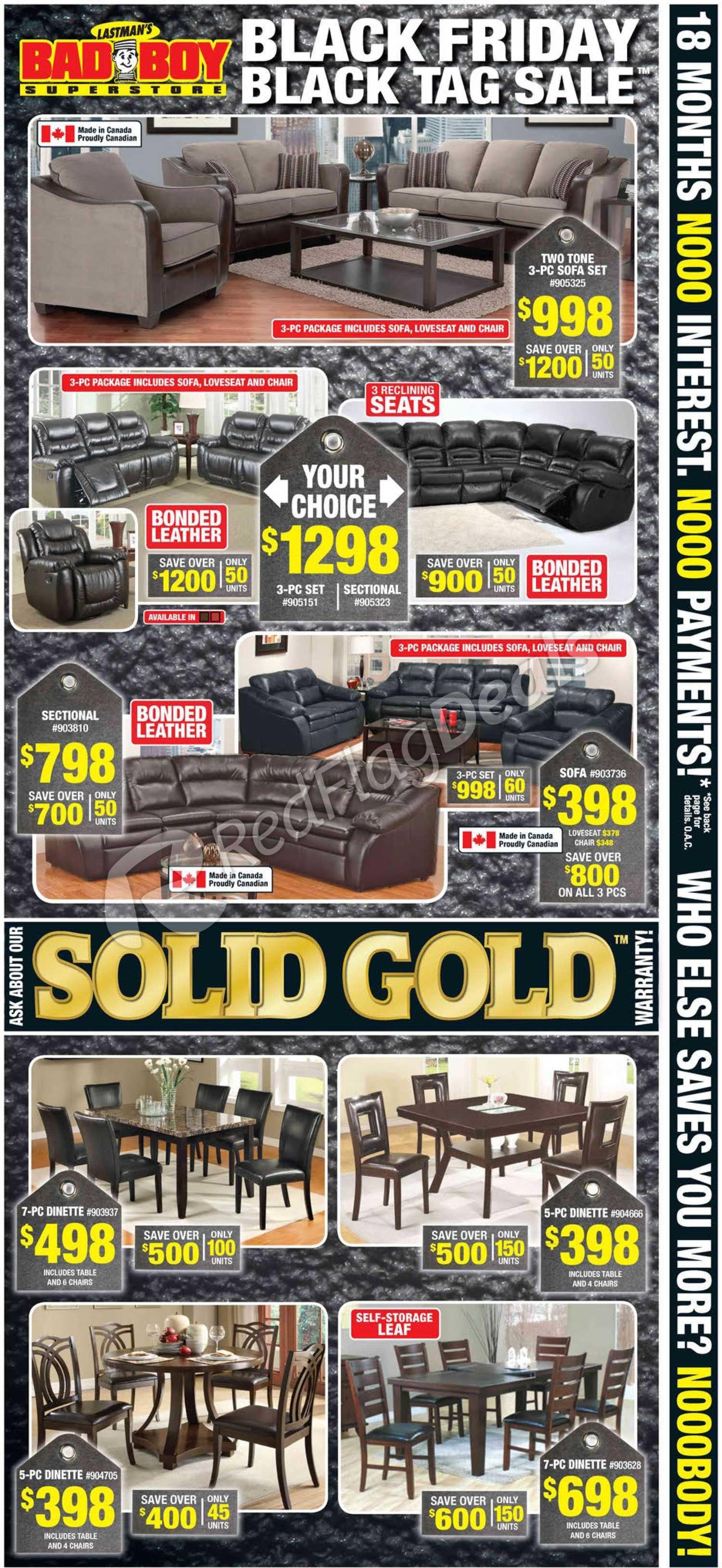 black friday sofa deals toronto affordable modern sectional sofas bad boy furniture weekly flyer tag