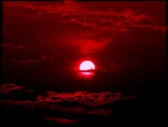 moon red aesthetic red and sky image #6083486 on Favim com