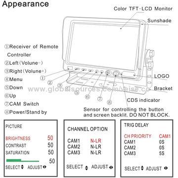kenworth battery wiring diagram radio peterbilt 32 images backup camera monitor system china for 4