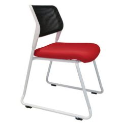 Office Chair Without Arms Wayfair Club And Ottoman China Low Price Good Quality Fabric Seat Mesh Back Chairs No Wheels Cheap