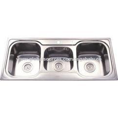 Triple Kitchen Sink Redo Countertops China Bowl Stainless Steel Undermount Apartment Size Sinks