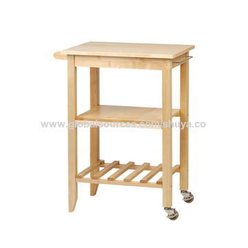 wire kitchen cart ceramic tiles for china solid wood with top basket trolley wheels