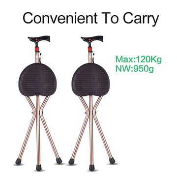 walking stick chair wooden card table and chairs china stool crutches seat aluminum travel aid for elder parents
