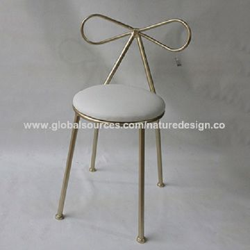 chair stool with back adirondack cushions china champagne metal banquet round seat red cushion dining side