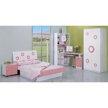 bedroom chair for clothes used bean bag chairs sale china set composed of night stand bed wardrobe bookshelves desk and