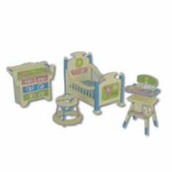 Baby Toy High Chair Set Kitchen Table And Chairs China Miniature Furniture Composed Of Walker