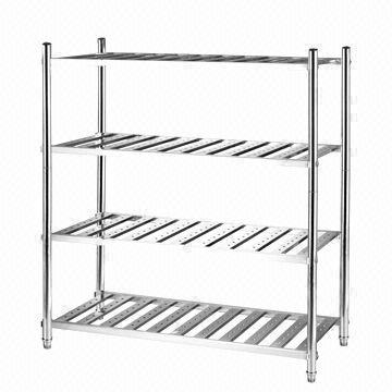 4-layer ladder storage rack/1 meter, stainless steel 201