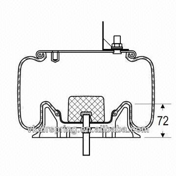 HENDRICKSON 56808-2/57150-RH natural rubber air spring/W01