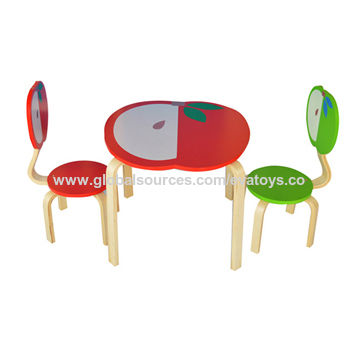 red childrens desk chair louis 16th china wooden children s table sets from wenzhou wholesaler 2015 apple design solid wood for preschool