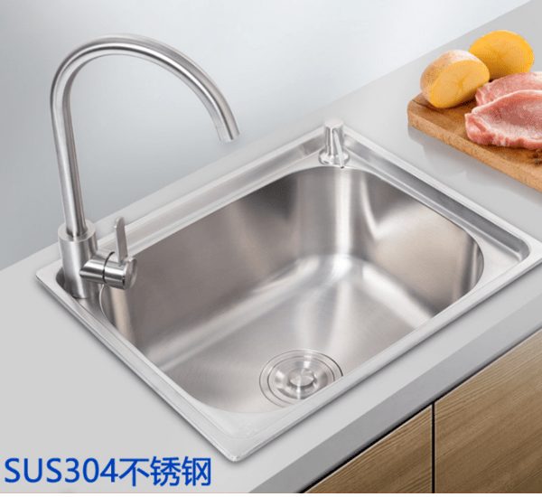 stainless steel single kitchen sink vegetable