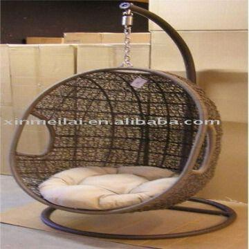 egg chair swing black folding covers wholesale rattan hang garden global sources china