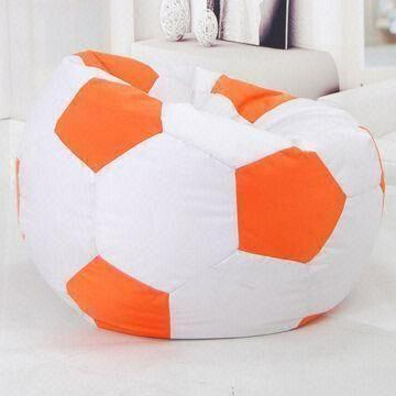 football bean bag chair adirondack chairs cushions target small size shaped available in orange and china