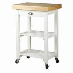 Wooden Kitchen Cart Seat Cushions With Drawer Shelves In White Color Made Of Pine Wood China