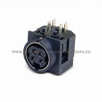 4 pin mini din power connections 2002 jetta stereo wiring diagram standard connector with female socket pcb dip taiwan