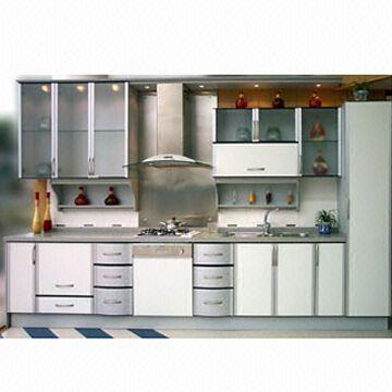 aluminum kitchen cabinets outlets laminated panel cabinet doors with plastic frame china