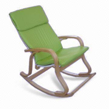 rocking chair footrest oak antique chairs birch bentwood with cushion and washable china