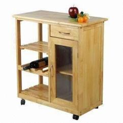 Oak Kitchen Cart The Best Way To Clean Cabinets Kd Style Trolley With Shelves Drawer And Cabinet China