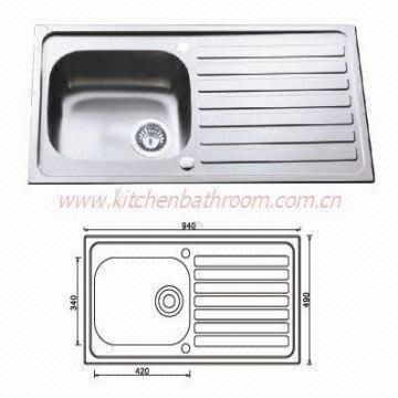 single sink kitchen aid professional sinks stainless steel bowl drainer china