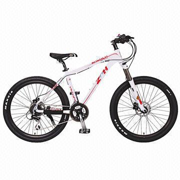 Mountain Bike with 26-inch Alloy Frame and Fork, Shimano