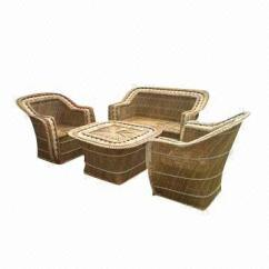 Wicker Sofa Set Philippines Eames For Sale Square Made Of Buri Global Sources