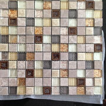 brown mosaic tiles