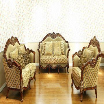 sofa classic black leather slipcover antique fabric china