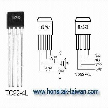 Door Bell Ic-hk592,music Ic,sound Ic,melody Ic,voice Ic