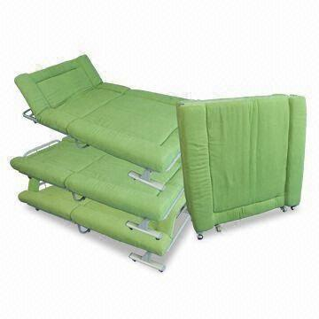 square sofa beds single chair cover mobile and foldable bed made of steel tube mesh china