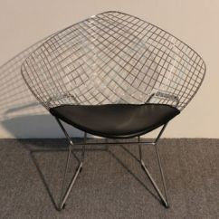 Diamond Chair Replica With Desk Attached Bertoia Welded Steel Rods And Pad Seat China Made Of Chrome