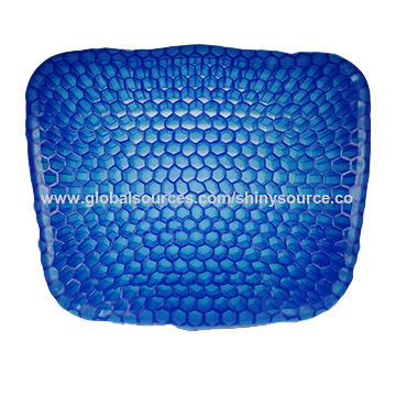 gel cushion for chairs cool dorm china new egg sitter car chair seat breathable honeycomb pressure mat with