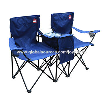 double camping chairs folding chair covers and linens rentals pvc fabric wholesale china