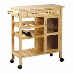 Oak Kitchen Cart Cabinets Makeover Trolley With Shelves Drawer And Cabinet Global Sources China