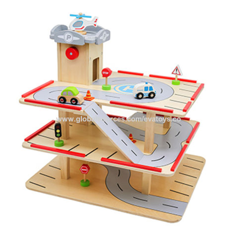 China 2019 New Design Educational Play Set Wooden Kids Car Garage With Customize W04b077 On Global Sources