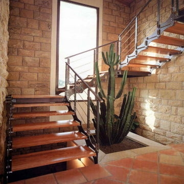 Indoor Straight Steel Wood Staircase Stair Global Sources | Steel And Wood Staircase | Glass | Custom | Handrail | Contemporary | Inside
