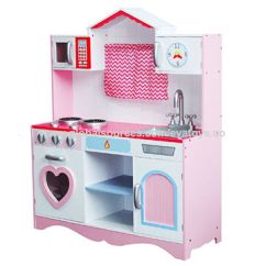 Solid Wood Toy Kitchen Island With Prep Sink China New Style School Kids Wooden Pretend Play Set Unit