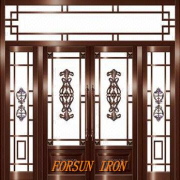Wrought iron door,Iron door, Window grill design Villa