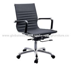 Office Chair Steel Base With Wheels Swivel Barrel Chairs Leather Executive Computer Metal Nylon Castors China