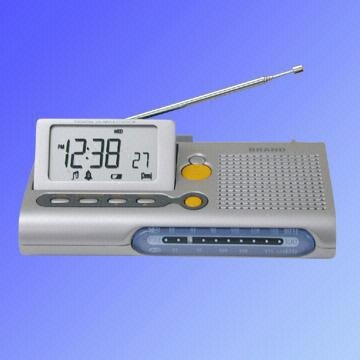 Am Fm Lcd Travel Clock Radio With Timer