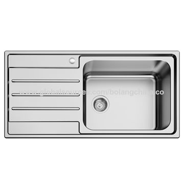kitchen sinks with drain boards american standard white faucet china stainless steel sink welding style single bowl