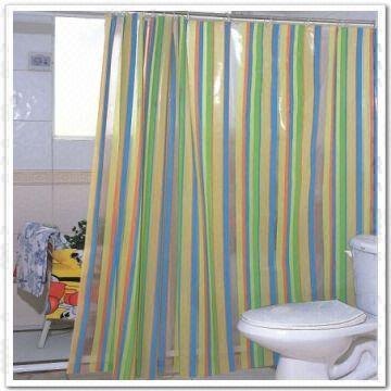 pvc shower curtain for bathroom good