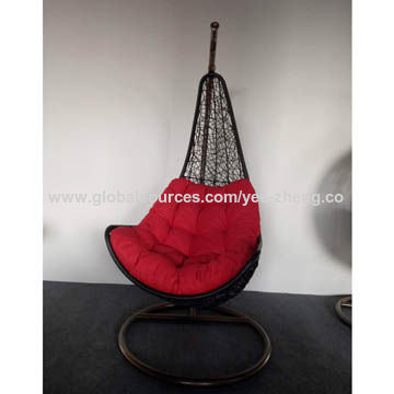 patio hanging egg chair real electric execution photos furniture rattan swing cum jhula basket china